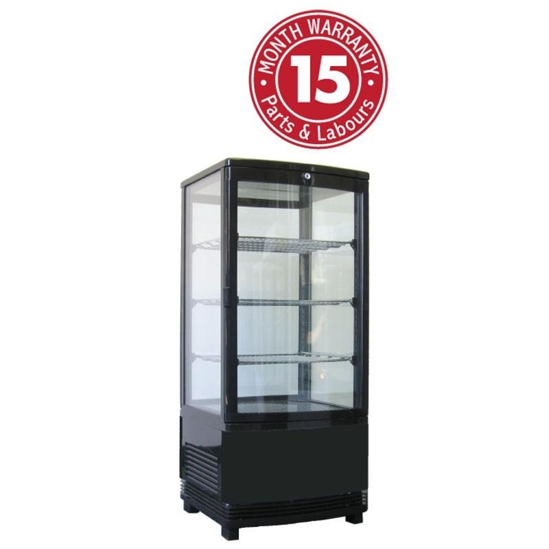 Exquisite CTD235 Upright Display Fridge - Black