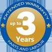 3 Year Extended Warranty logo